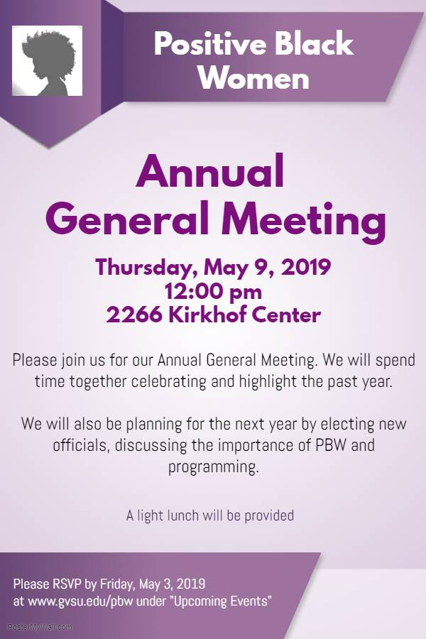 PBW Annual General Meeting